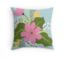 Blooming colorfull composition Throw Pillow