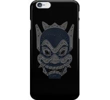 Ornate Blue Spirit Mask iPhone Case/Skin