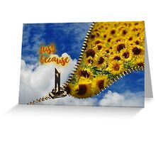 Just because - Sky Zip Greeting Card