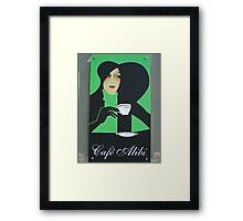 Cafe Alibi poster- Budapest, Hungary Framed Print