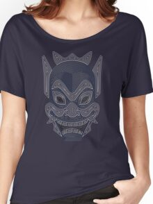 Ornate Blue Spirit Mask Women's Relaxed Fit T-Shirt