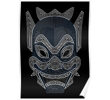 Ornate Blue Spirit Mask Poster