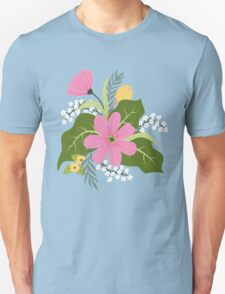 Blooming colorful composition Unisex T-Shirt