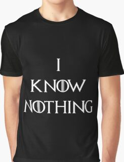 I Know Nothing Game of Thrones Graphic T-Shirt