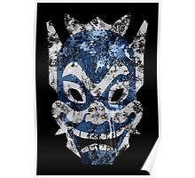 Blue Spirit Splatter Poster