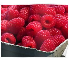 red raspberries Poster