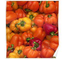peppers galore- Oregon farmer's market Poster