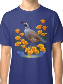 California State Bird and Flower Quail and Golden Poppy Classic T-Shirt