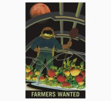 Nasa Mars Recruiting Poster - Farmers Wanted Kids Tee