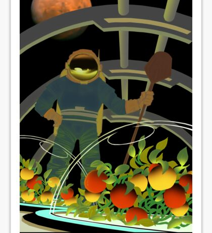 Nasa Mars Recruiting Poster - Farmers Wanted Sticker