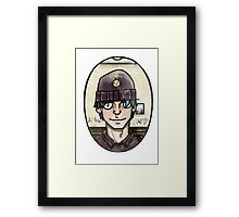 Almost happy portrait Framed Print