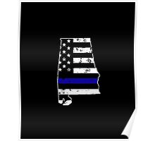 Alabama Thin Blue Line Police Poster
