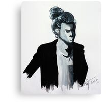 Harry Styles Black and White Painting  Canvas Print