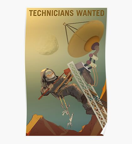 Nasa Mars Recruiting Poster - Technicians Wanted Poster