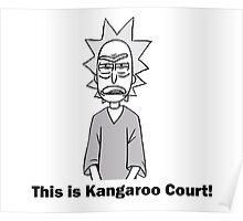 Rick and Morty-- Kangaroo Court Poster