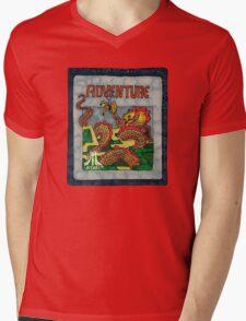 Retro Adventure Game Cartridge Mens V-Neck T-Shirt