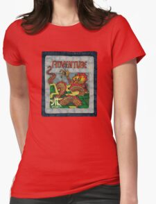 Retro Adventure Game Cartridge Womens Fitted T-Shirt