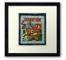 Retro Adventure Game Cartridge Framed Print