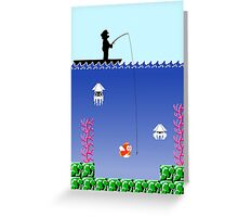 Mario Fishing Greeting Card