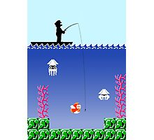 Mario Fishing Photographic Print
