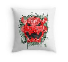 Bowser Emblem Splatter Throw Pillow