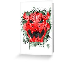 Bowser Emblem Splatter Greeting Card