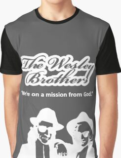 Wesley Brothers in White Graphic T-Shirt