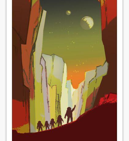 Nasa Mars Recruitment Poster - Teach on Mars Sticker