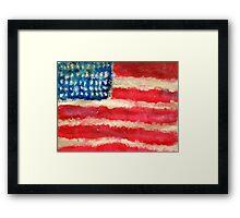 Rugged U.S. Flag Painting Framed Print
