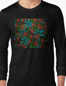 Retro Trendy Floral Pattern Long Sleeve T-Shirt