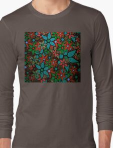 Retro Trendy Floral Pattern Long Sleeve T-Shirt