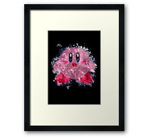 Kirby Splatter Framed Print