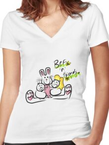 Bef'n'Friends Women's Fitted V-Neck T-Shirt