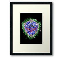Hylian Shield Splatter Framed Print