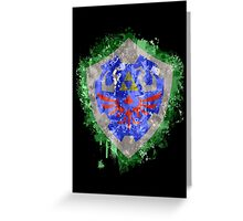 Hylian Shield Splatter Greeting Card