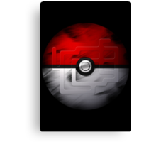 Brushed Pokeball - Kanto Map Canvas Print