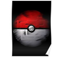 Brushed Pokeball - Kanto Map Poster