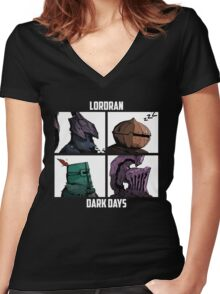 Lordran Women's Fitted V-Neck T-Shirt