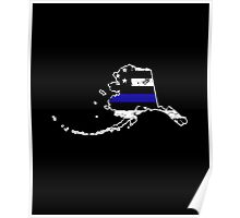 Alaska Thin Blue Line Police Poster