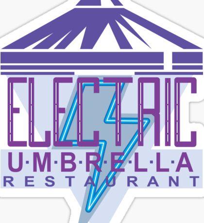 Electric Umbrella Restaurant Sticker