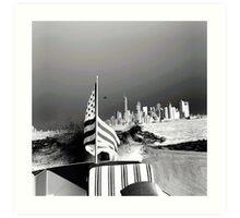 America- Black and White Art Print