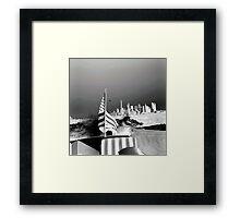 America- Black and White Framed Print