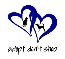 ADOPT A SHELTER PET  (blue) Photographic Print