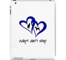 ADOPT A SHELTER PET  (blue) iPad Case/Skin