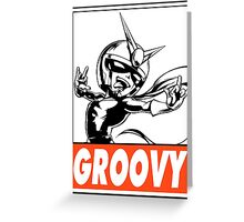 Viewtiful Joe Groovy Obey Design Greeting Card