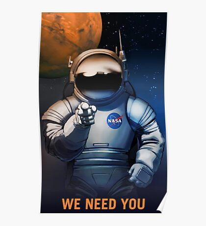 Nasa Mars Recruiting Poster - We Need You Poster
