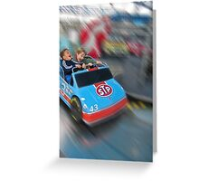 Little boys' thrill ride. Greeting Card
