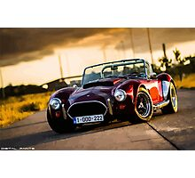 Dark red Cobra Photographic Print