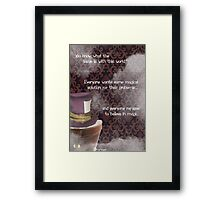 OUAT Jefferson Quote Edit Framed Print