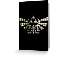 Zelda - Plaid Royal Crest Greeting Card